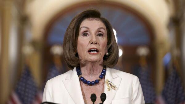 La portavoce della Camera degli Stati Uniti Nancy Pelosi, il 5 dicembre del 2019 - Sputnik Italia