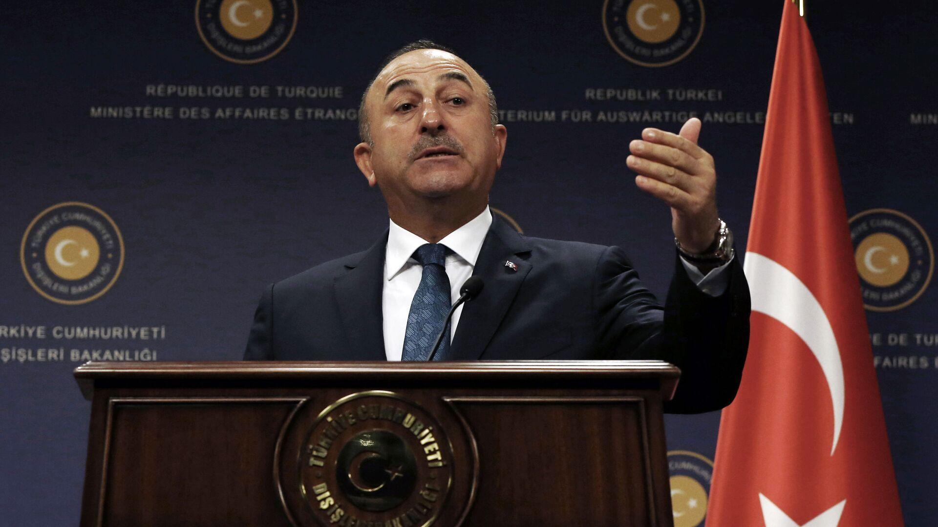 Il ministro degli Esteri turco Mevlut Cavusoglu - Sputnik Italia, 1920, 07.09.2021
