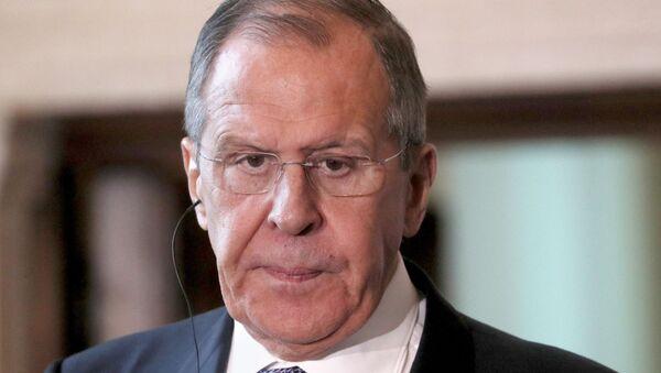 Sergey Lavrov durante una conferenza stampa con Luigi Di Maio a Roma  - Sputnik Italia