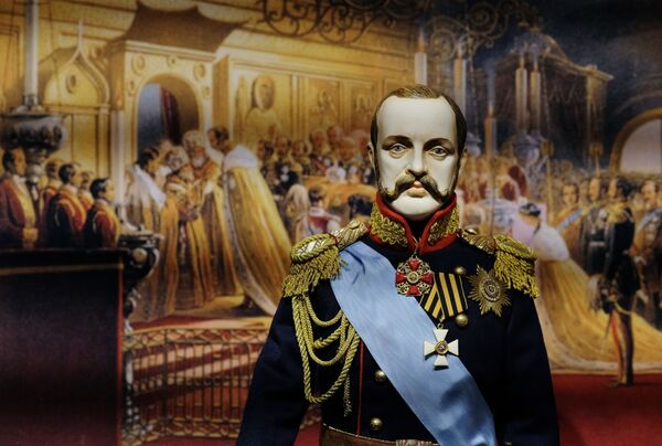 Una bambola dell'Imperatore Alessandro II, presentata nella mostra I monarchi russi. Le pagine della storia, Mosca - Sputnik Italia