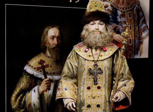 Una bambola di Alessio I Romanov alla mostra I monarchi russi. Le pagine della storia a Mosca - Sputnik Italia
