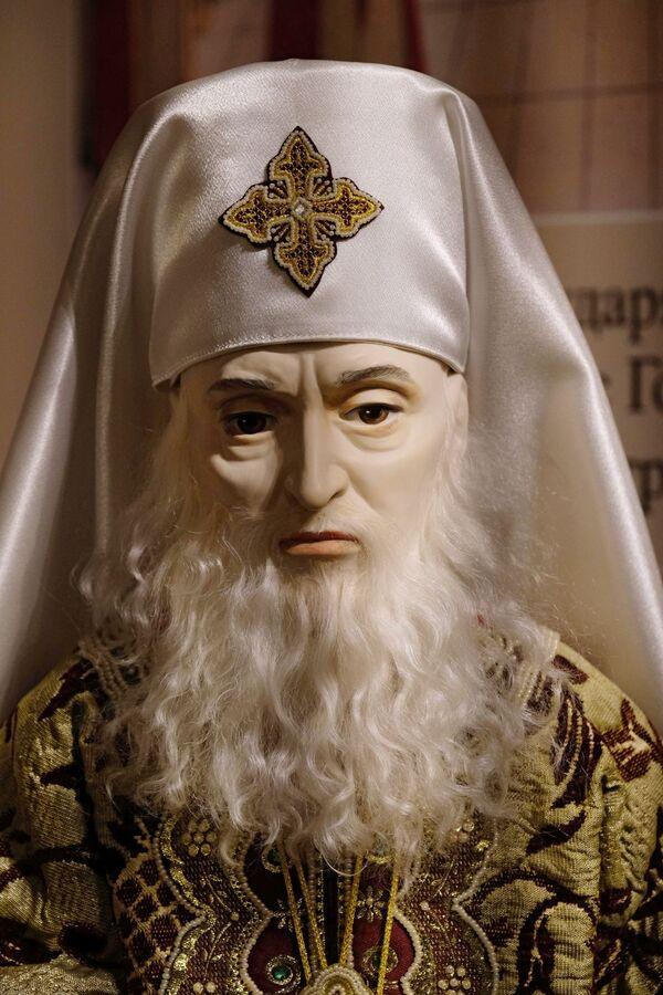 Una bambola del Patriarca Filarete alla mostra I monarchi russi. Le pagine della storia a Mosca - Sputnik Italia