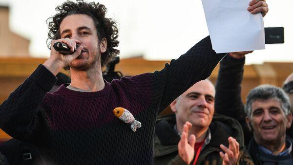 Mattia Santori, il leader delle Sardine - Sputnik Italia
