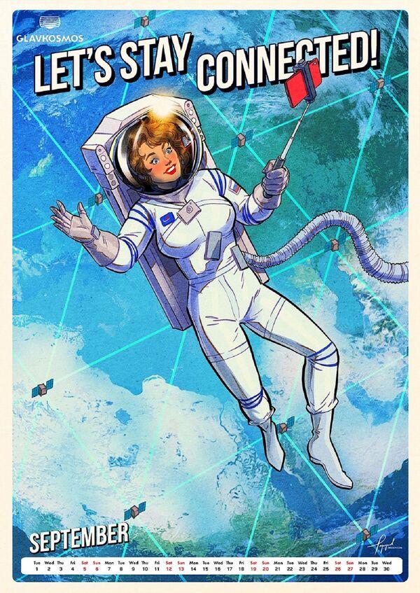 Nuovo calendario del 2020 di Roscosmos Andiamo nello spazio! - Sputnik Italia