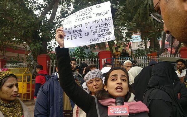 Le poteste contro la legge sulla cittadinanza in India - Sputnik Italia