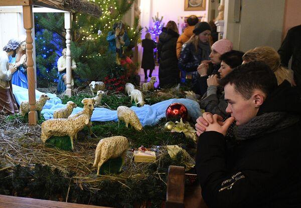 Una messa di Natale in Bielorussia. - Sputnik Italia
