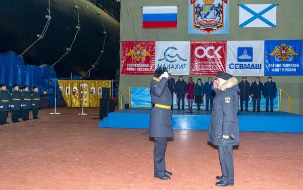 Varato il primo sottomarino atomico del progetto di modernizzazione Jasen-M Novosibirsk - Sputnik Italia