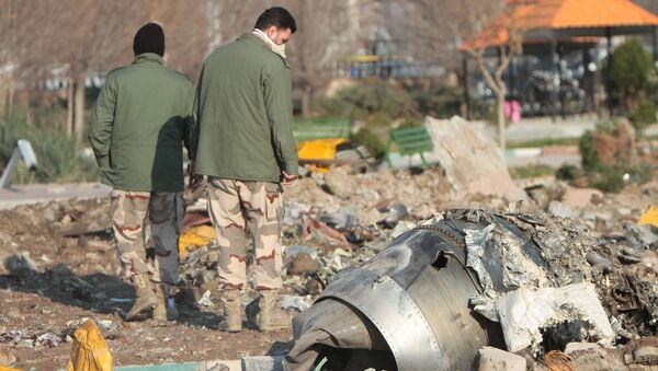 Il luogo dello schianto del Boeing 737 ucraino in Iran - Sputnik Italia