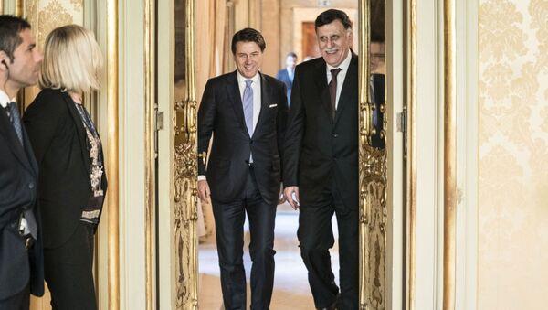 Giuseppe Conte incontra Fayez al Serraj - Sputnik Italia