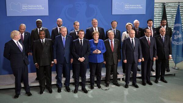 Il presidente russo Vladimir Putin alla Conferenza internazionale sulla Libia a Berlino - Sputnik Italia