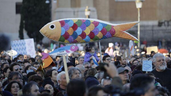 Il movimento delle sardine a Roma - Sputnik Italia