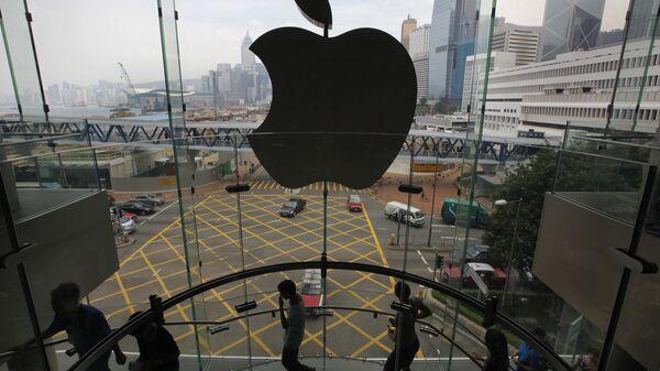 Логотип компании Apple на здании компании. Архивное фото - Sputnik Italia