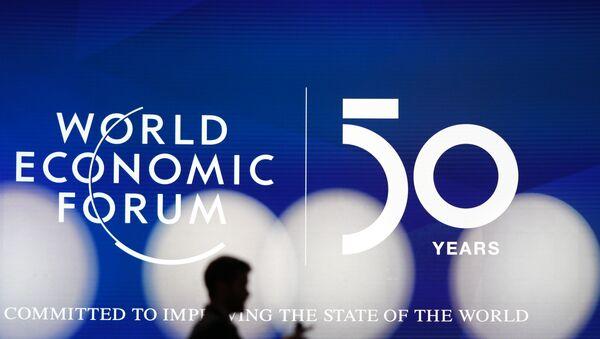 Logo of the World Economic Forum in Davos - Sputnik Italia