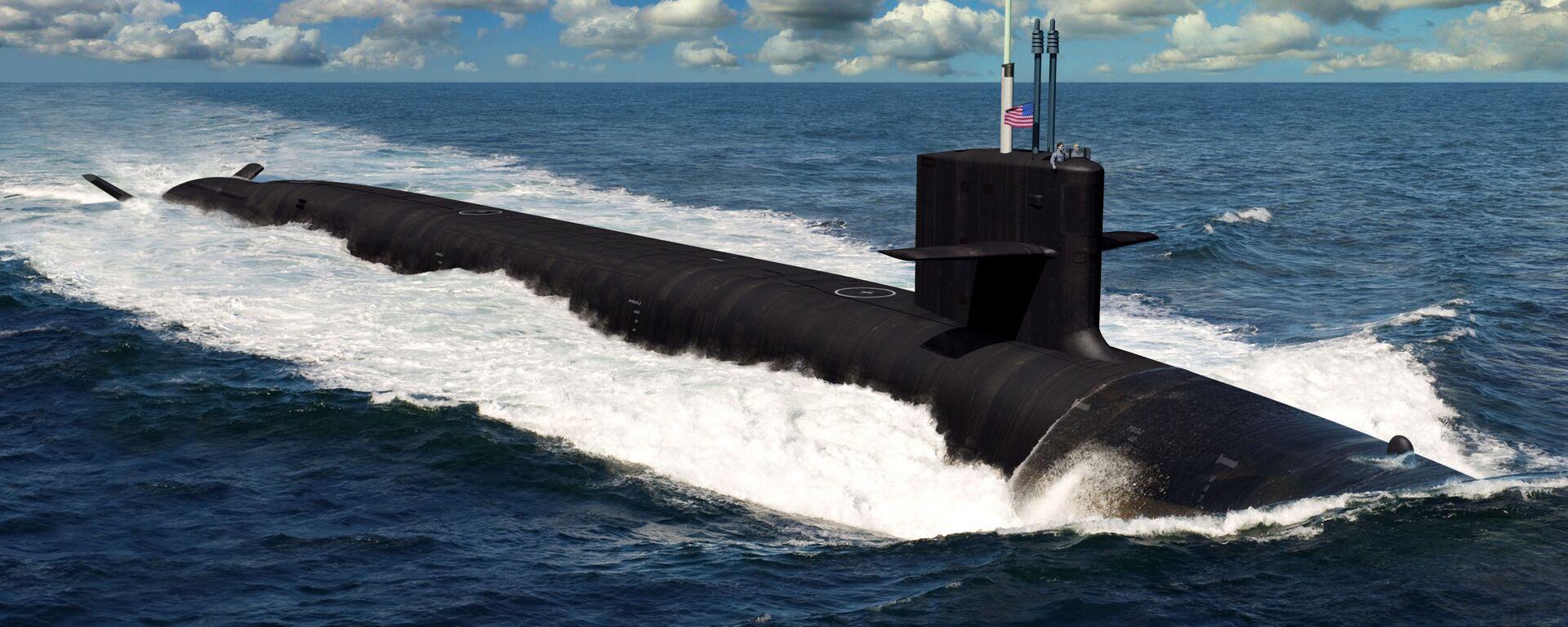 L'illustrazione del sottomarino futuro statunitense di classe Columbia - Sputnik Italia, 1920, 19.09.2021