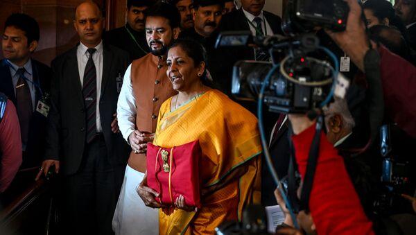Ministro finanze indiano Nirmala Sitharaman  - Sputnik Italia