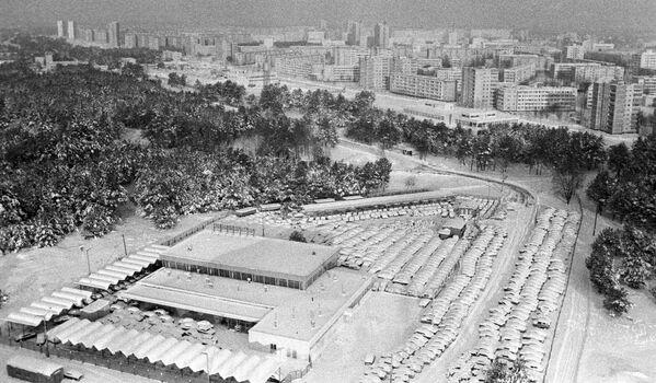 Vista della città di Pripyat nel gennaio 1987 - Sputnik Italia