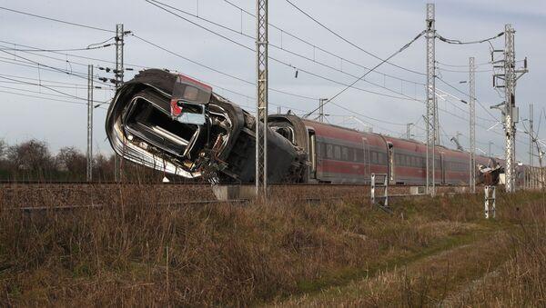 Un treno ad alta velocità Frecciarossa il 6 febbraio 2020 è deragliato sulla linea Milano-Bologna a Ospedaletto Lodigiano - Sputnik Italia