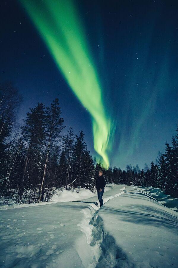 Spettacolare aurora boreale fotografata in Finlandia - Sputnik Italia