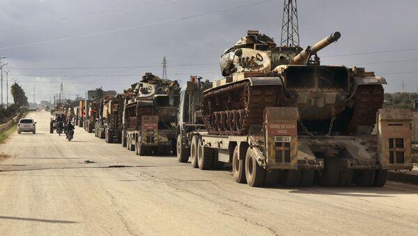 Equipaggiamento militare turco in Idlib, Siria - Sputnik Italia