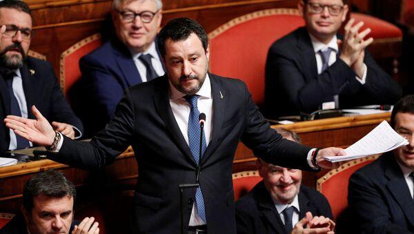 Matteo Salvini al Senato - Sputnik Italia