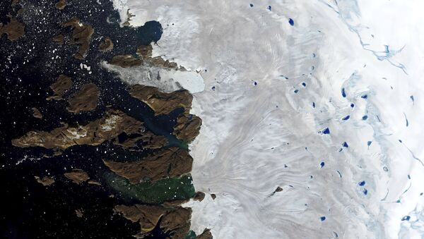 Bacini collettori di un ghiacciaio in Groenlandia - Sputnik Italia