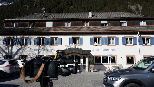 L'hotel Bagni di Salomone dove vivono gli atleti di biathlon russi  - Sputnik Italia