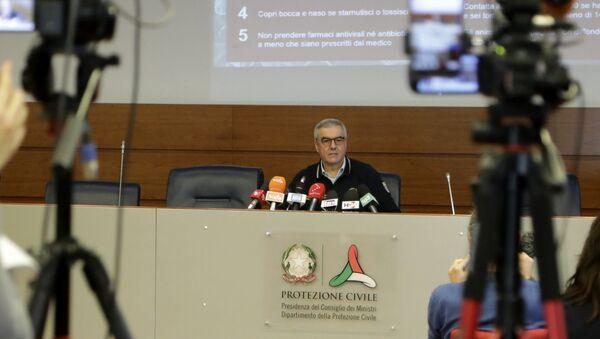 Roma, 23 febbraio 2020 – Il Capo del Dipartimento della Protezione Civile Angelo Borrelli durante la conferenza stampa. - Sputnik Italia
