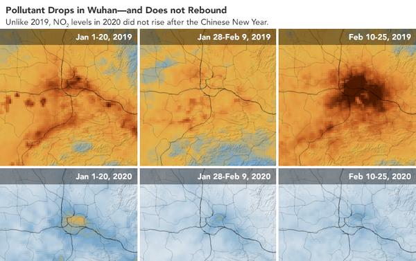 Coronavirus: il crollo dello smog in Cina visto dai satelliti Nasa ed Esa - Sputnik Italia
