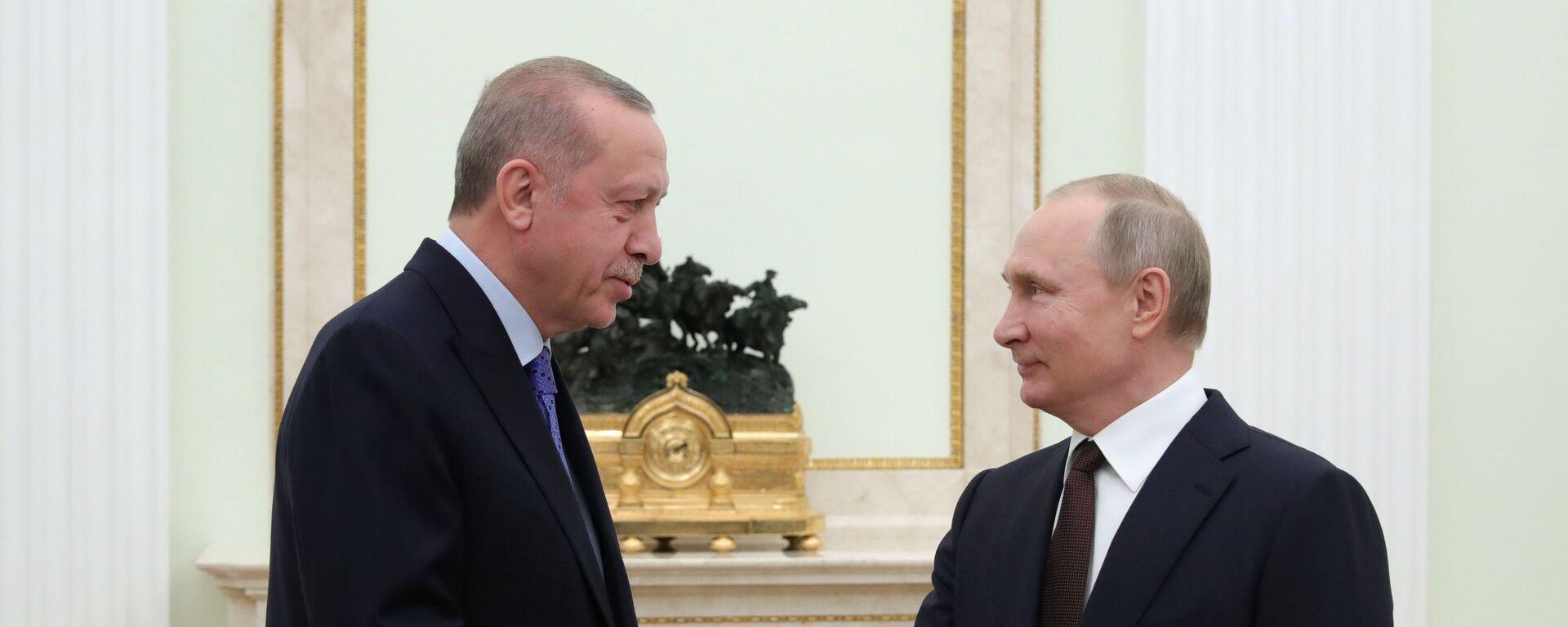 Recep Tayyip Erdogan e Vladimir Putin - Sputnik Italia, 1920, 28.09.2021