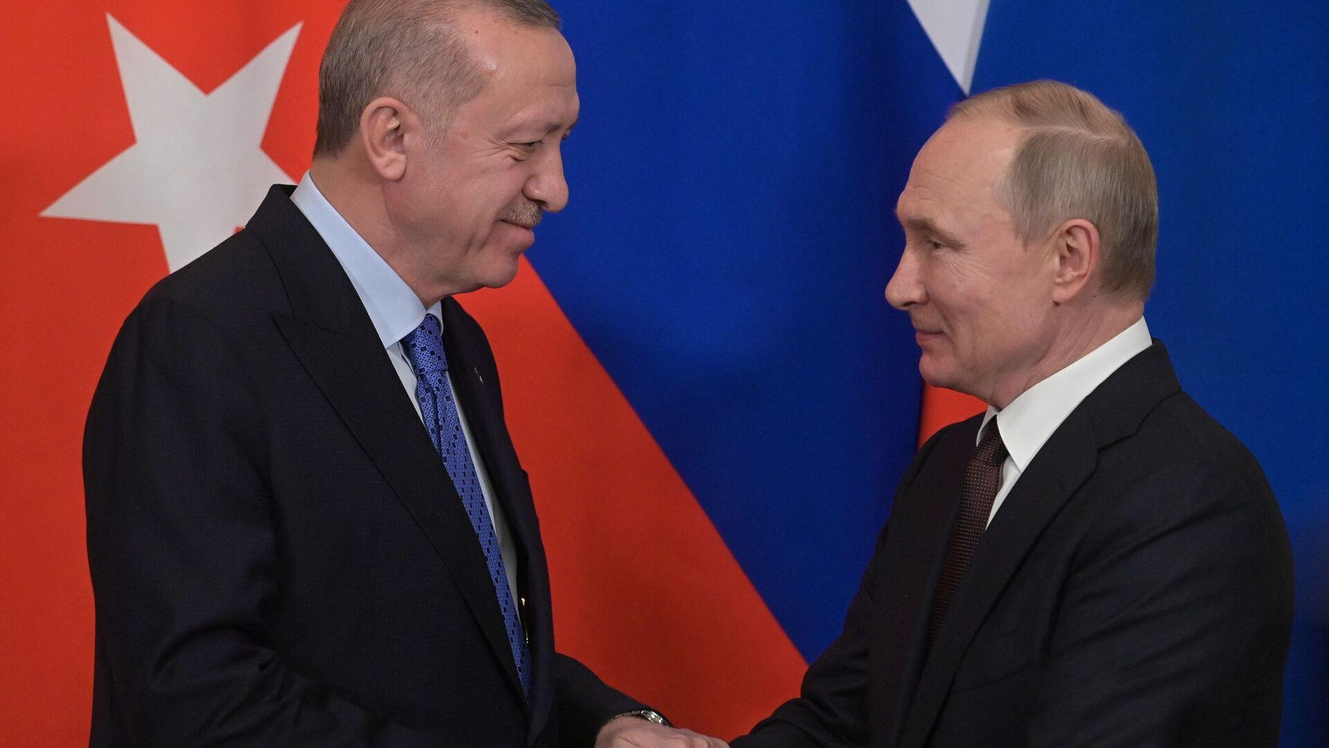 L'incontro tra Putin ed Erdogan a Mosca - Sputnik Italia, 1920, 30.09.2021