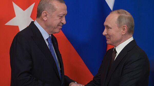 L'incontro tra Putin ed Erdogan a Mosca - Sputnik Italia