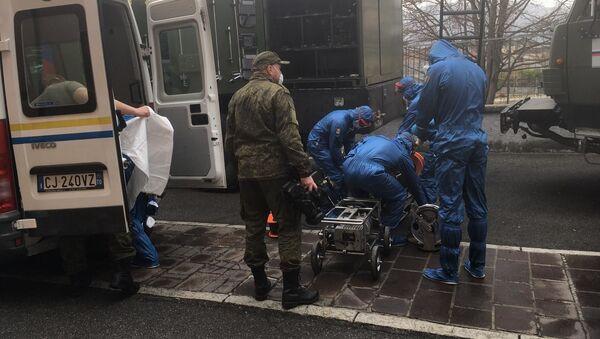 Operazione Dalla Russia con amore, intervento dei militari russi a Gandino - BG - Sputnik Italia
