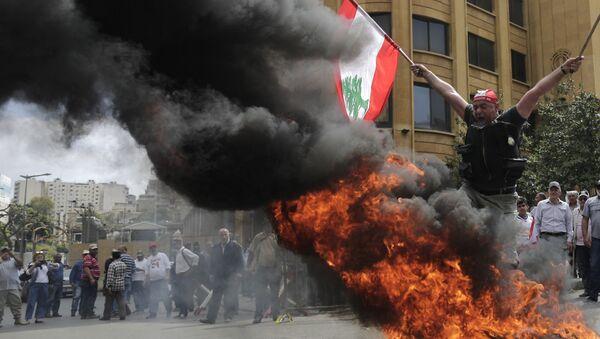 Proteste antigovernative a Beirut, in Libano - Sputnik Italia
