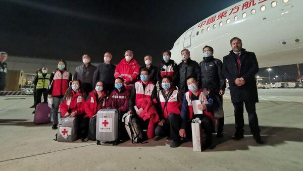 Team di esperti cinesi arrivato in Italia il 13 marzo 2020 - Sputnik Italia