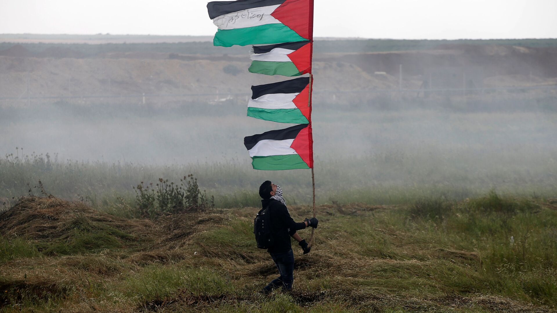 Le proteste dei palestinesi nella Striscia di Gaza al confine con l'Israele - Sputnik Italia, 1920, 06.09.2021
