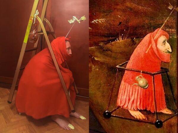 Un frammento del 'Trittico delle Tentazioni di sant'Antonio' di Hieronymus Bosch, 1501 - Sputnik Italia