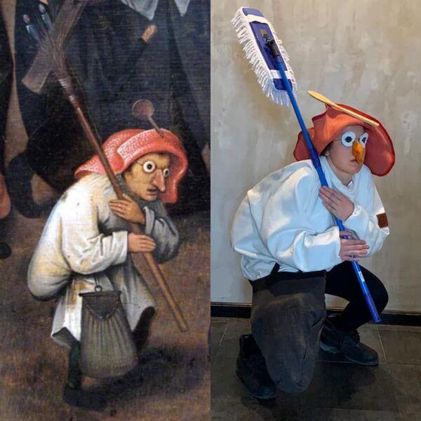 Lotta tra Carnevale e Quaresima di Pieter Bruegel il Vecchio, 1559 - Sputnik Italia