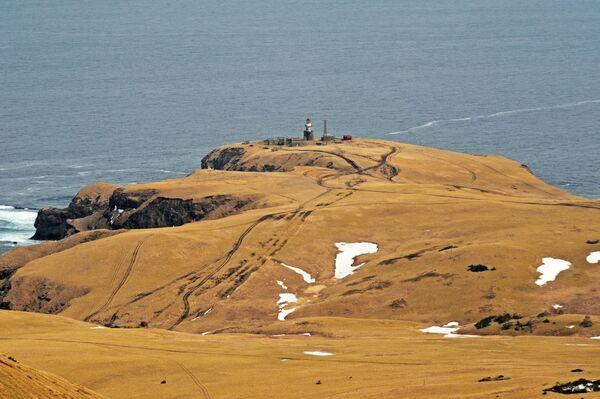 Il faro di Spangberg sull'isola Shikotan nella regione di Sakhalin, Russia - Sputnik Italia