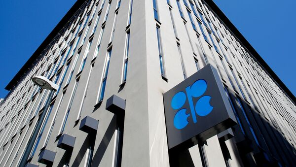 The logo of the Organization of the Petroleoum Exporting Countries (OPEC) is seen outside of OPEC's headquarters in Vienna, Austria April 9, 2020.  - Sputnik Italia