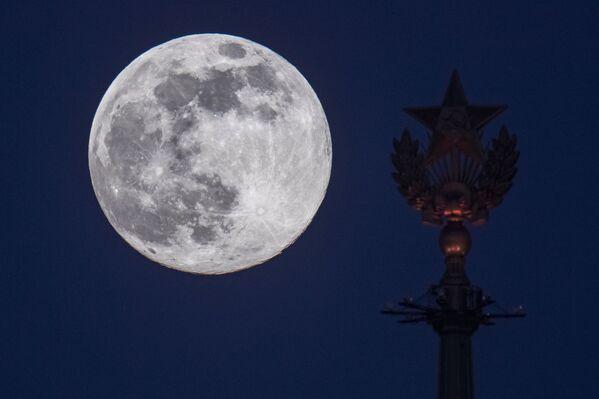 Superluna a Mosca, il 7 aprile 2020 - Sputnik Italia