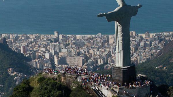La statua di Cristo Redentore a Rio de Janeiro, Brasile - Sputnik Italia