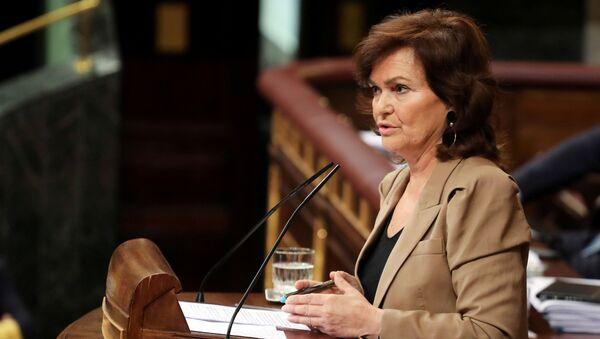 Carmen Calvo, la vicepremier spagnola - Sputnik Italia