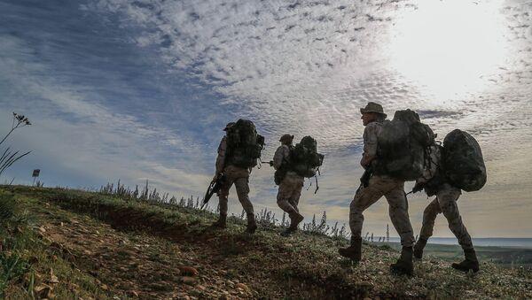 Soldati spagnoli durante l'operazione Skyfall nel 2015 - Sputnik Italia