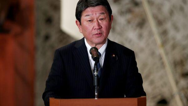 Il ministro degli Esteri giapponese Toshimitsu Motegi - Sputnik Italia