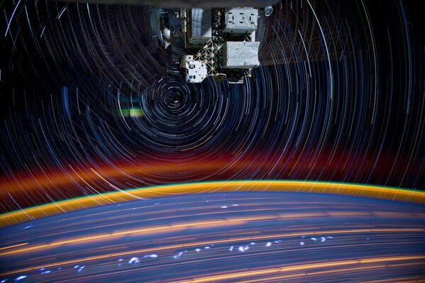 La fotografia della Terra dalla Stazione spaziale internazionale composta da 18 scatti. - Sputnik Italia