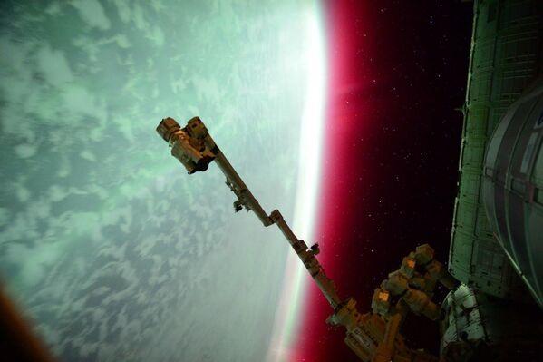 L'aurora boreale vista dalla Stazione spaziale internazionale. - Sputnik Italia
