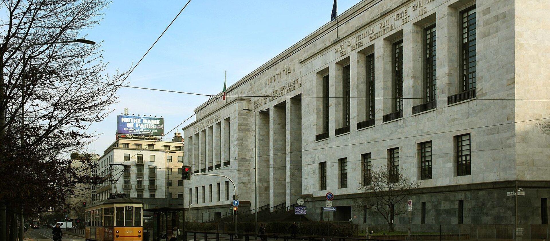 Il Palazzo di Giustizia di Milano, sede del Tribunale - Sputnik Italia, 1920, 28.03.2021