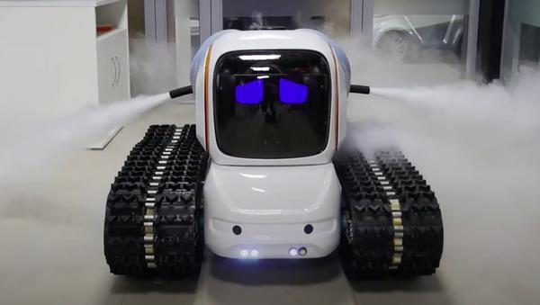 Il robottino disinfettante della Avrora Robotics - Sputnik Italia