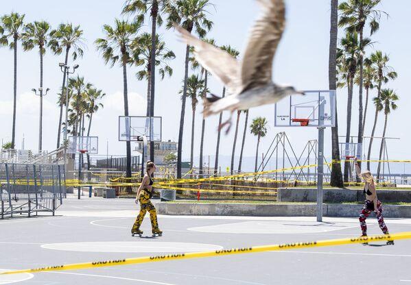 L'apertura delle spiagge a Los Angeles. - Sputnik Italia