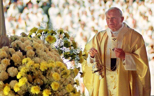 Papa Giovanni Paolo II durante la messa in Portogallo, il 12 maggio 1991 - Sputnik Italia